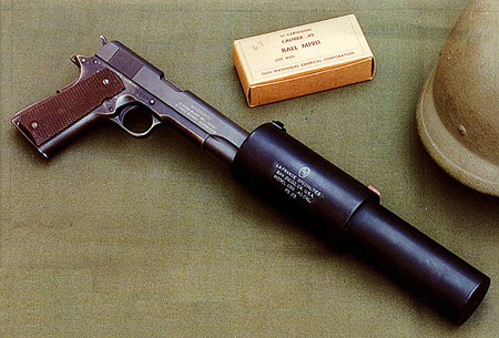 Suppressed M1911A1 from WWII