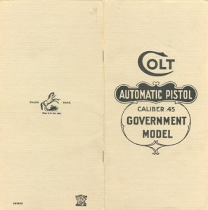 Colt Manual Cover