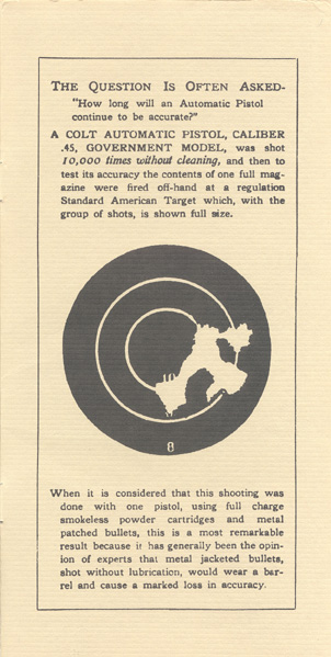 The Commercial Colt Caliber .45 Government Model Manual - Inside Back Cover