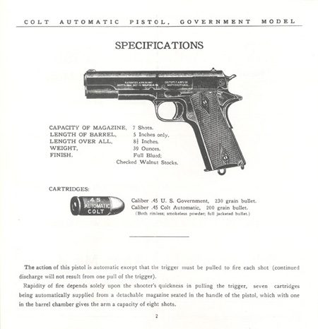 The Commercial Colt Caliber .45 Government Model Manual - Page 2