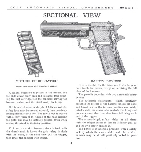 The Commercial Colt Caliber .45 Government Model Manual - Page 3