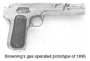 Browning's gas operated prototype of 1895