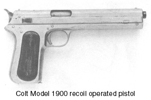 Colt Model 1900 recoil operated pistol