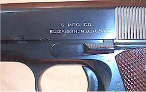 Singer M1911 Pistol Slide Markings