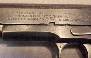 Remington-UMC 1911 Pistol Roll Stamp