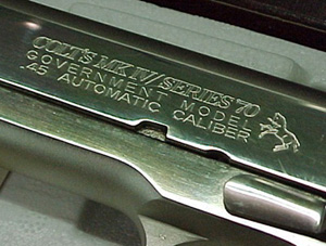 Colt MK IV Series 70 Roll Stamp