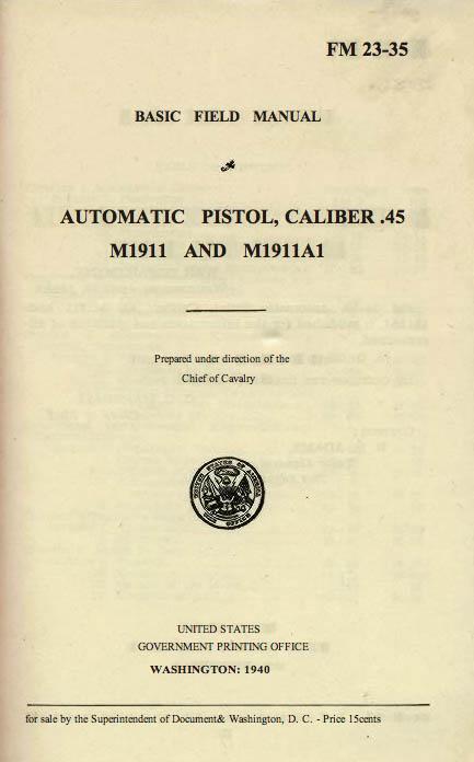 M1911 Manual - Page 2