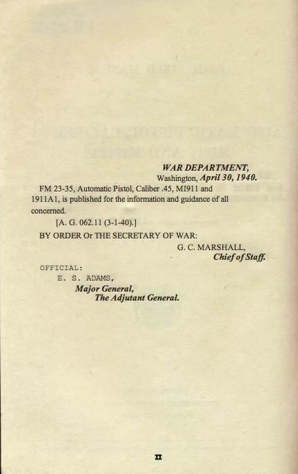 M1911 Manual - Page 3