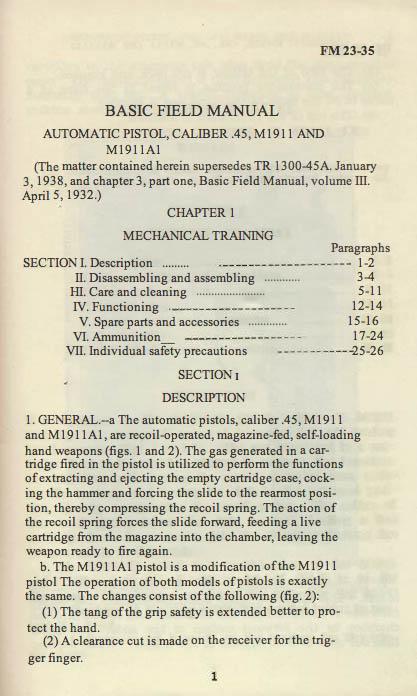 M1911 Manual - Page 5
