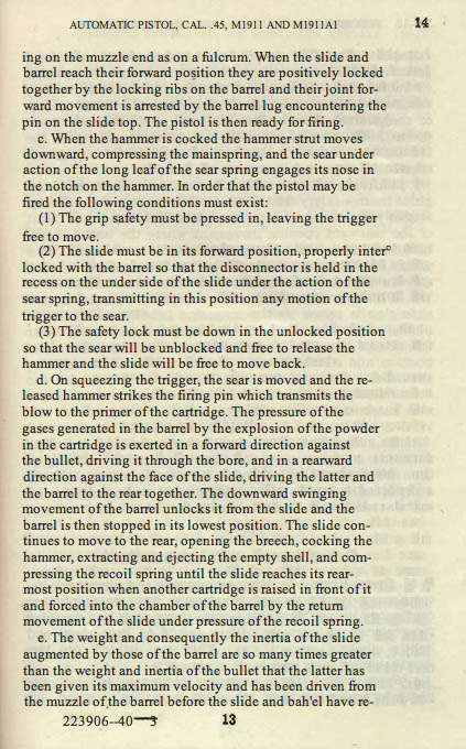 M1911 Manual - Page 19