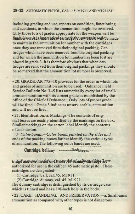 M1911 Manual - Page 22