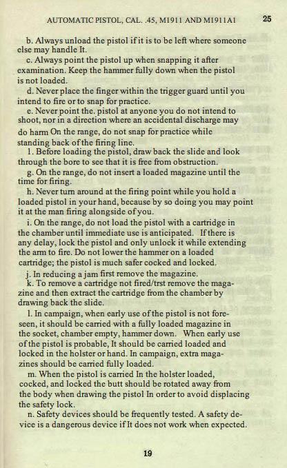 M1911 Manual - Page 25