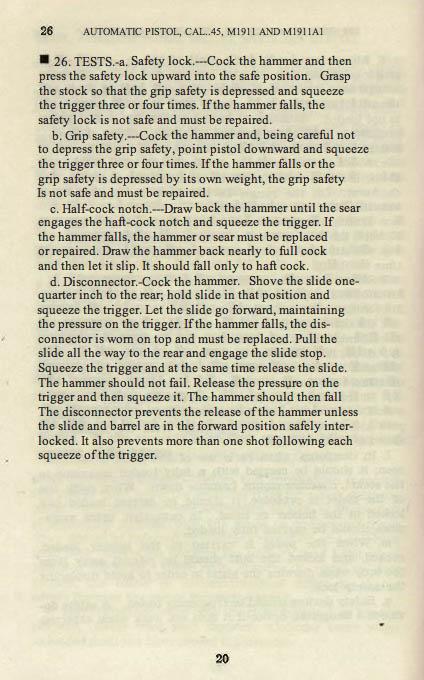 M1911 Manual - Page 26