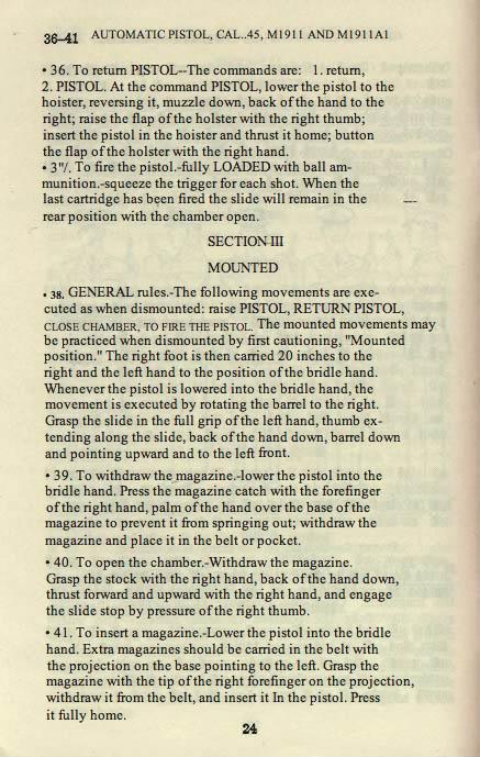 M1911 Manual - Page 30